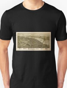 Panoramic Maps Monongahela City Pennsylvania 1902 Unisex T-Shirt