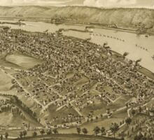 Panoramic Maps Monongahela City Pennsylvania 1902 Sticker