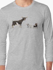 A Doe & Her Kids Long Sleeve T-Shirt