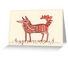 Aztec Fox Greeting Card