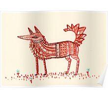 Aztec Fox Poster