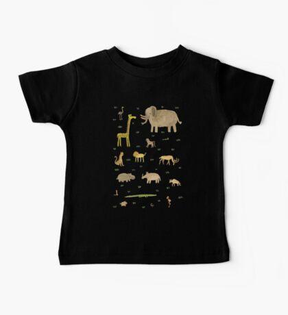 African Animals Baby Tee