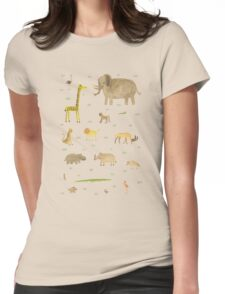 African Animals Womens Fitted T-Shirt