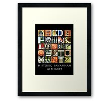 Historic Savannah Alphabet Framed Print