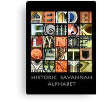 Historic Savannah Alphabet Canvas Print