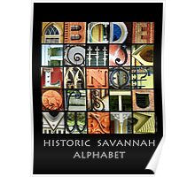 Historic Savannah Alphabet Poster
