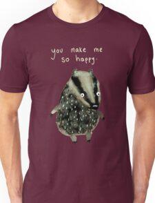 Happy Badger Unisex T-Shirt