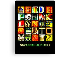 Savannah Alphabet - Bright Canvas Print