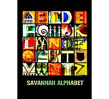 Savannah Alphabet - Bright Photographic Print