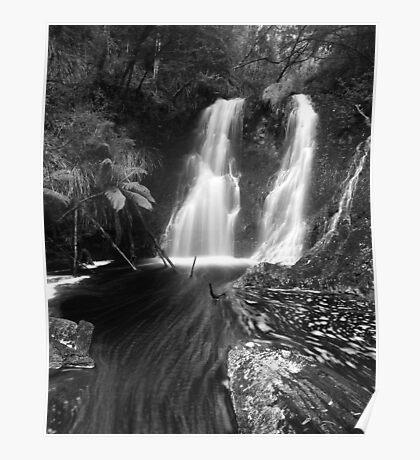 """Hogarth Falls"" ∞ Strahan, Tasmania - Australia Poster"