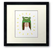 Self Portrait in Frog Hat Framed Print