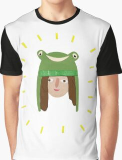 Self Portrait in Frog Hat Graphic T-Shirt