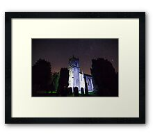 Ramsgill church under the stars Framed Print