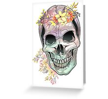 Watercolor Skull front facing Greeting Card