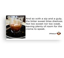 Caffeinated Poetry - Bitter sweet - Sticker Canvas Print