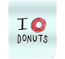 I ❤ Donuts Poster