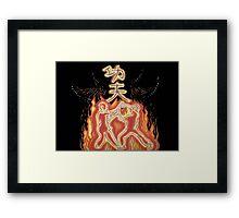 Kung fu fury Framed Print