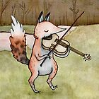 Violin Fox by Sophie Corrigan