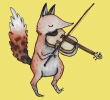 Violin Fox Kids Tee