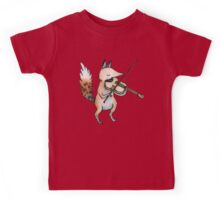 Violin Fox Kids Tee
