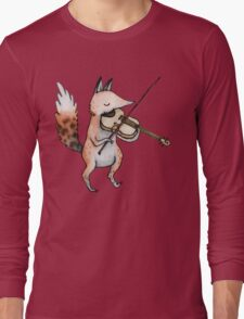 Violin Fox Long Sleeve T-Shirt