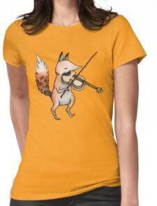 Violin Fox Womens Fitted T-Shirt