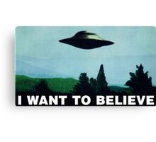 I want to believe  - Funny UFO Canvas Print
