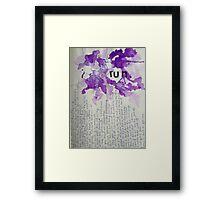Runaway Framed Print