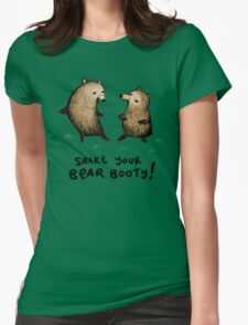 Bear Booty Dance Womens Fitted T-Shirt