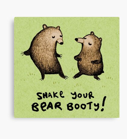 Bear Booty Dance Canvas Print
