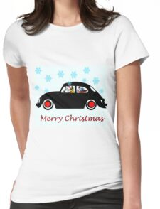 Santa Beetle Womens Fitted T-Shirt
