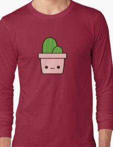 Cactus in cute pot Long Sleeve T-Shirt