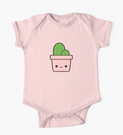 Cactus in cute pot One Piece - Short Sleeve