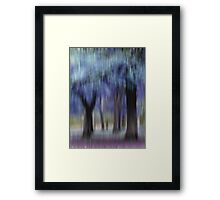 Group of Trees in Motion - blue Framed Print