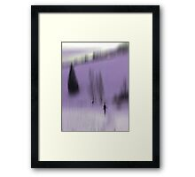 Winter Walk (violet), Fischbacher Alps, Austria Framed Print