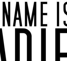 My Name Is Ladies Washroom (black) Sticker