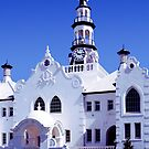 White church in Swellendam - South Africa by Arie Koene
