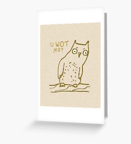 Confused Owl Greeting Card