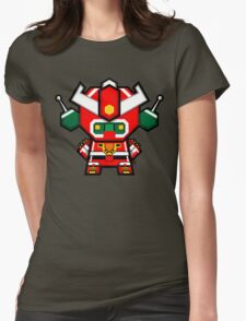 Mekkachibi Mekanda Robo Womens Fitted T-Shirt