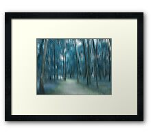 Forrest in Motion, Moscow (blue) Framed Print