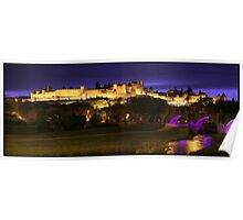 Carcassonne by night Poster