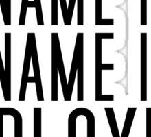 My Name Is Employees Mustwashhands (black) Sticker