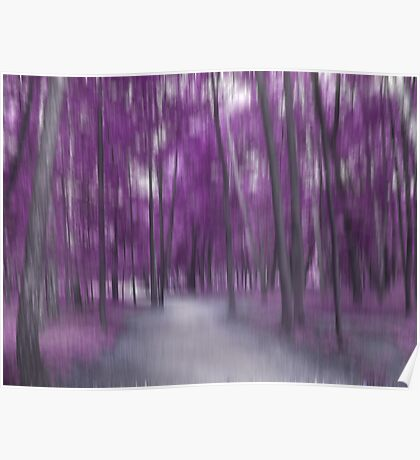 Forrest in Motion, Moscow (purple) Poster