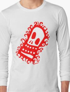 Burning Skull V1 Long Sleeve T-Shirt