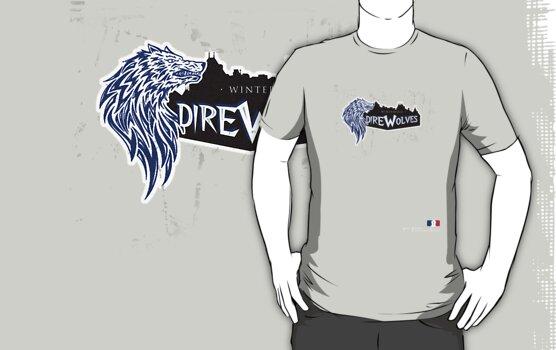 Winterfell Direwolves by lollyjolie