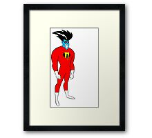 F! Superhero Framed Print