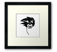Freak Superhero Silhouette Framed Print