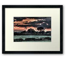 HDR Country landscape Framed Print