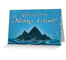 Greetings from Monkey Island Greeting Card