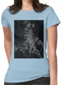 Brisbane map Australia Womens Fitted T-Shirt